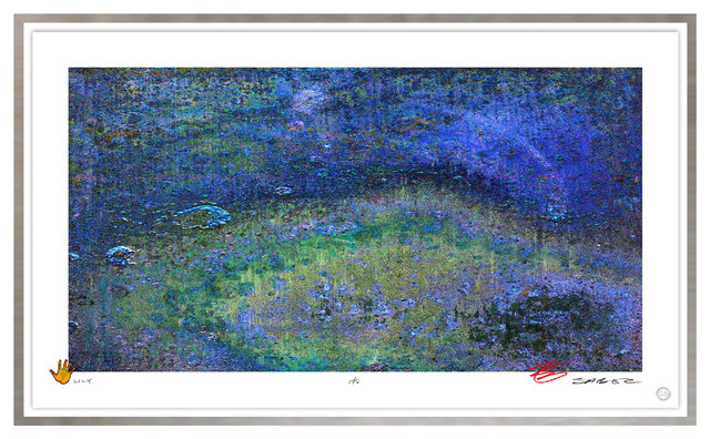 Contemporary Modern Abstract Fine Art, LILY, by Charles Sabec, 2014, Silver Leaf