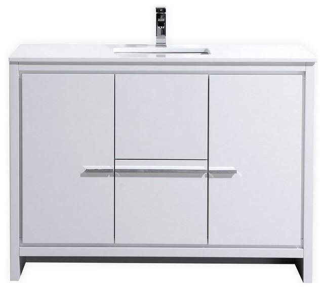 Luc Vanity Contemporary Bathroom Vanities And Sink Consoles - 48 inch modern bathroom vanity