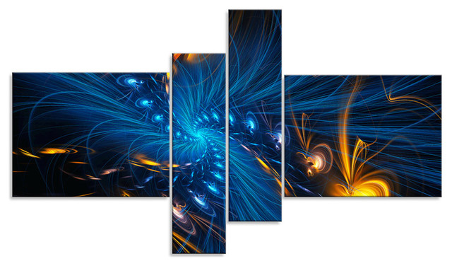 illumination digital artwork on canvas 4 panel 60 x36