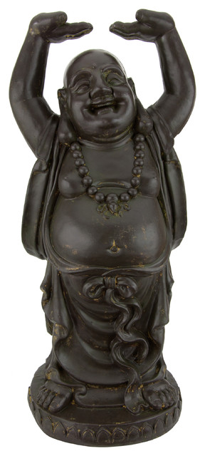 3 Tall Standing Laughing Buddha Statue Asian Garden Statues And Yard Art By Shopladder Houzz