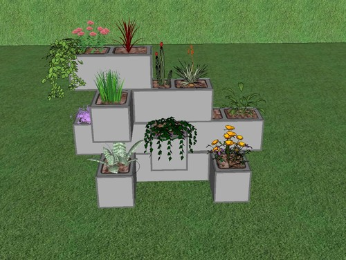 any thoughts on a cinder block planter. Black Bedroom Furniture Sets. Home Design Ideas