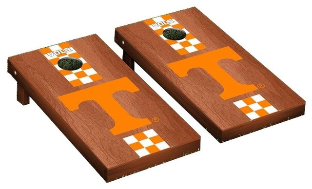 Surprising Tennessee Vols Cornhole Game Set Rosewood Stained Stripe Dailytribune Chair Design For Home Dailytribuneorg