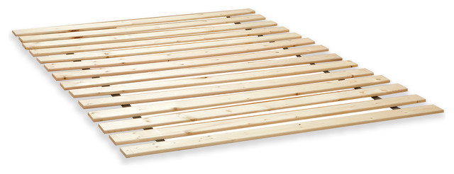 Classic Brands Heavy Duty Attached Solid Wood Bed Support Slats, King.