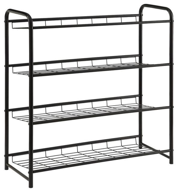 Shop Houzz | Coaster Fine Furniture Coaster Shoe Rack in Black Finish 950031 - Shoe Storage