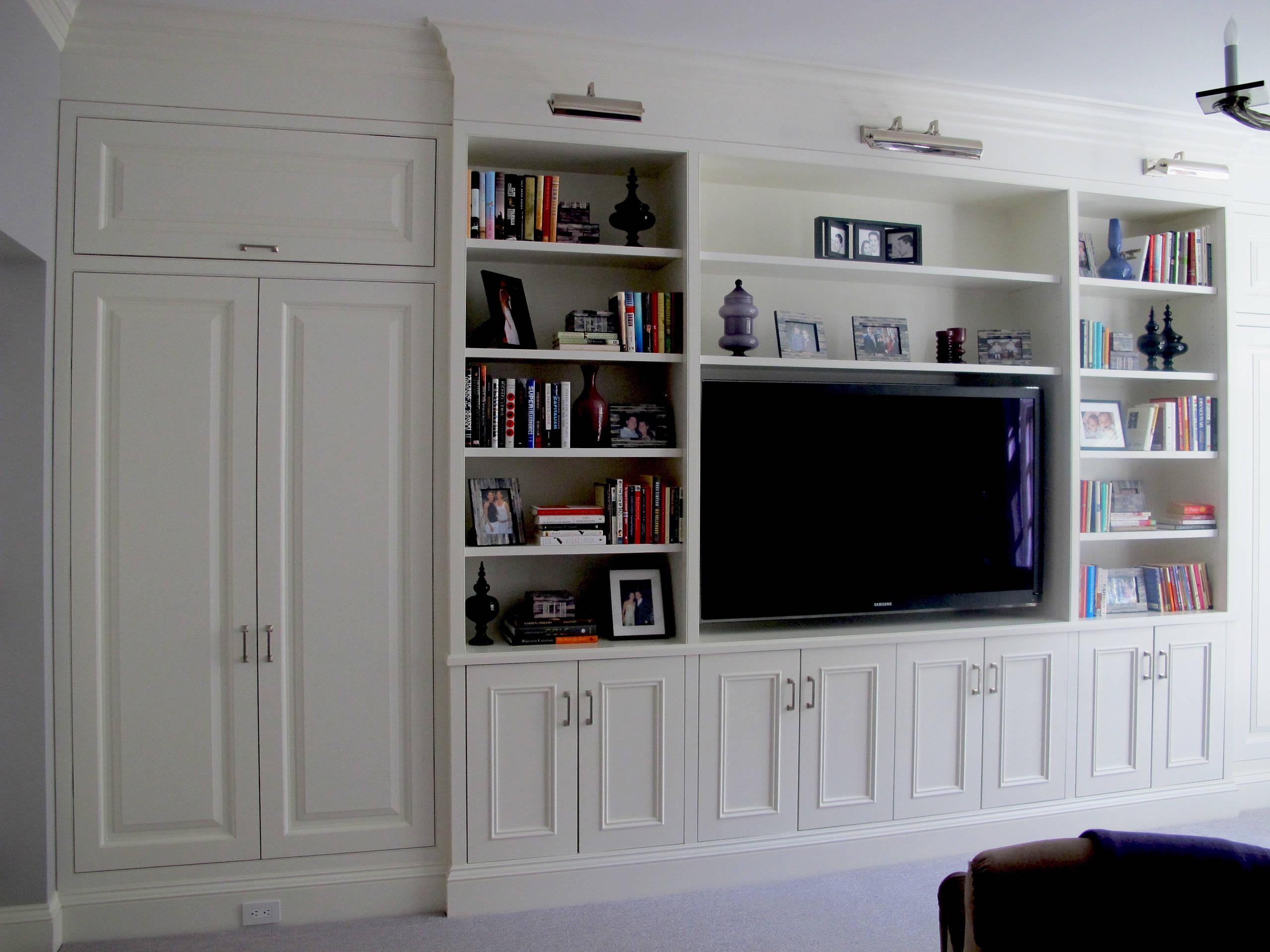 Living room tv wall unit