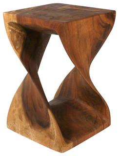 """Twist Table, Black Walnut, 12""""x20"""""""