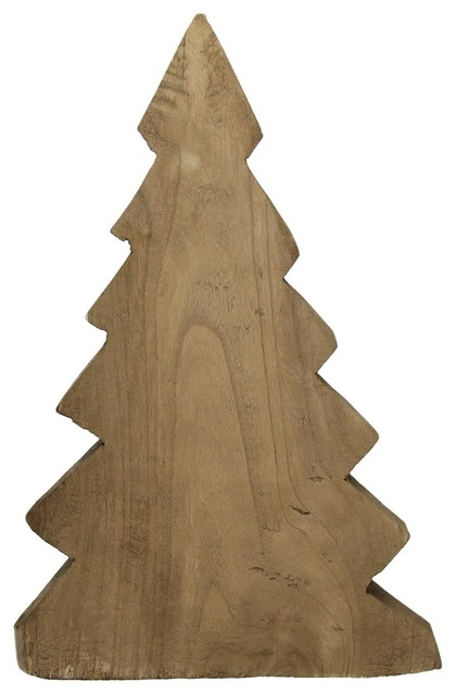 Pomax Pure Wooden Christmas Trees, Dark Brown, Set of 2 - Contemporary - Christmas Trees - by Pomax Home Collection
