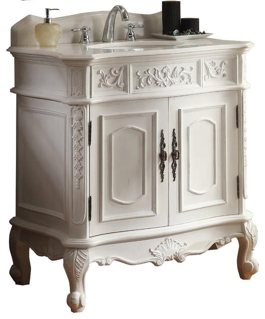 Antique White Classic Style Benson Bathroom Vanity Aw