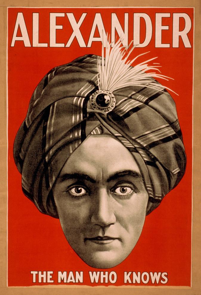 Magic Magician Alexander Crystal Ball Life to Grave Vintage Poster Repro FREE SH