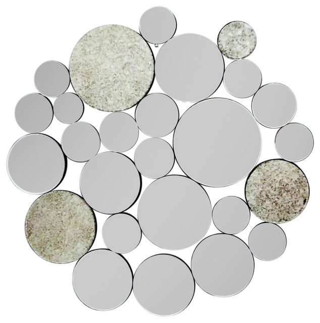 Fab Glass And Mirror Nickles - Ornate Round Wall Mirror Decorative by Fab Glass And Mirror