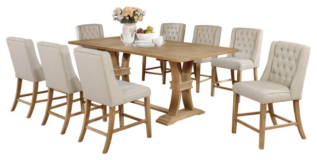9 Piece Dining Furniture Set Transitional Dining Sets By All In One Furniture