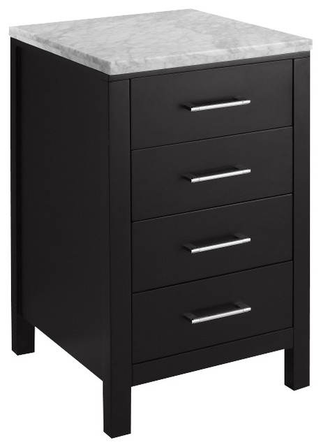 Espresso Drawer Cabinet With Marble Top - Modern - Bathroom Cabinets And Shelves - by Unique ...