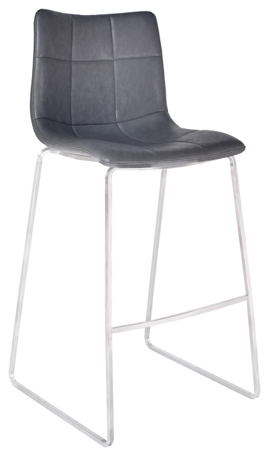 Awe Inspiring Hamilton 30 Bar Height Barstool Vintage Gray Brushed Stainless Steel Gmtry Best Dining Table And Chair Ideas Images Gmtryco