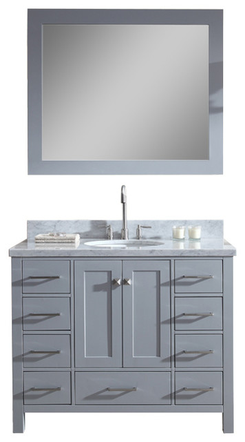 Ariel Cambridge 43 Single Sink Bathroom Vanity Set Grey Bathroom Vanities And Sink Consoles By Luxury Bath Collection Houzz