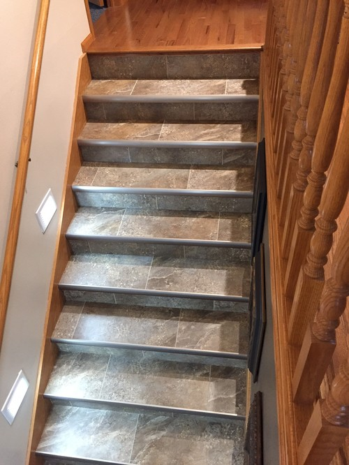 Stairs Berber Before And Lvt After