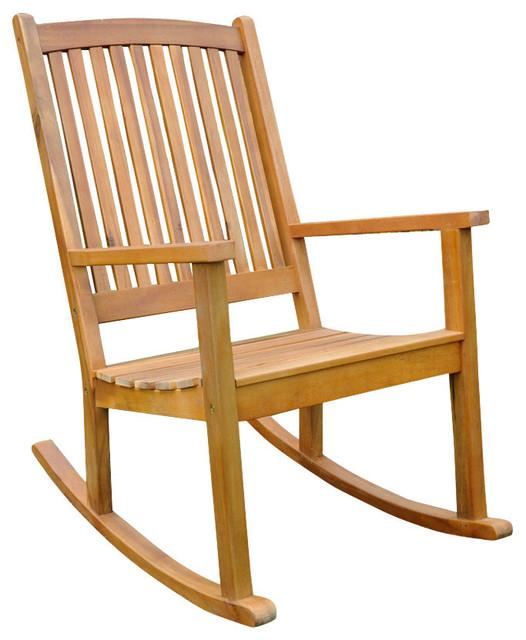 Acacia Large Rocking Chair, Rustic Brown.