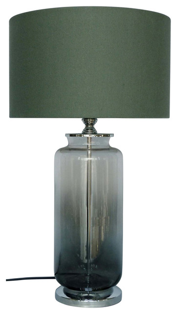 Two Tone Glass Lamp With Shade 12 Faded Base Modern