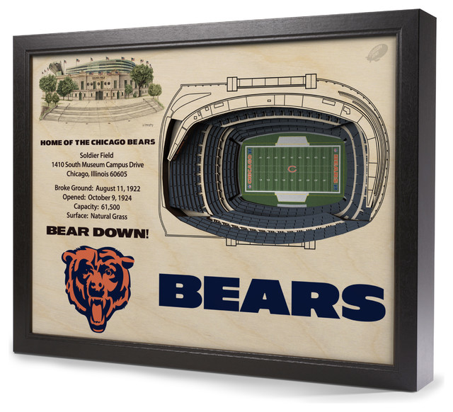Chicago Bears Soldier Field 3 D Wall Art Contemporary  : contemporary game room wall art and signs from www.houzz.com size 640 x 582 jpeg 112kB