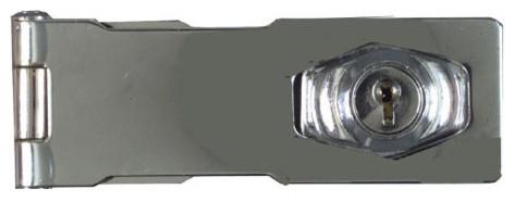"4-1/2"" Chrome Keyed Hasp Lock - Modern - Door Locks - by Greschlers Hardware"