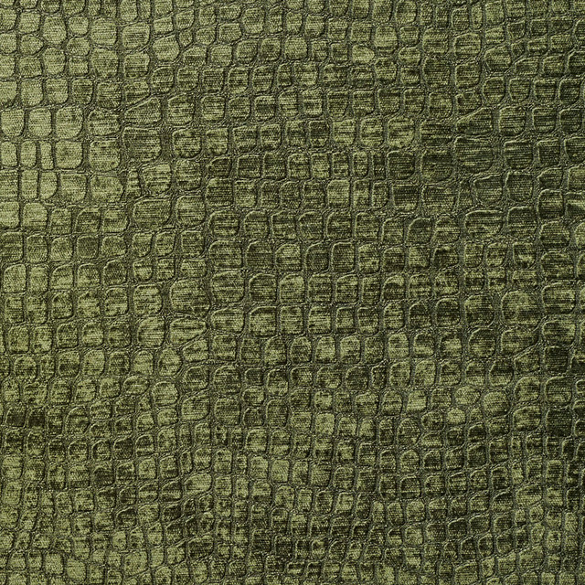 Dark Green Alligator Print Shiny Woven Velvet Upholstery Fabric By The Yard Contemporary Upholstery Fabric By Palazzo Fabrics