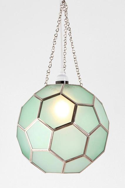 Honeycomb Glass Pendant, Green