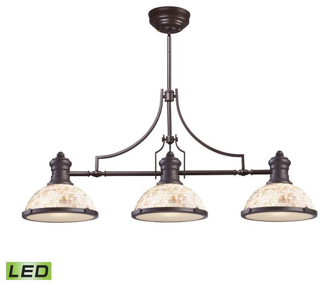 Chadwick 3-Light LED Billiard Light, Oiled Bronze And
