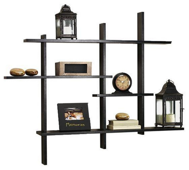 Standard Contemporary Display Shelf, Black contemporary-display-and-wall- shelves