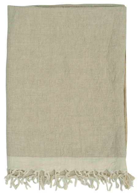 """Chambray Solid Throw, 50""""x70"""", Linen Stone"""