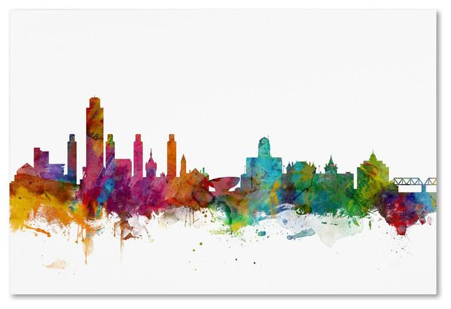 Quot Albany New York Skyline Quot Canvas Art By Michael Tompsett