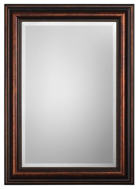 Stuart Rubbed Bronze Wall Mirror.