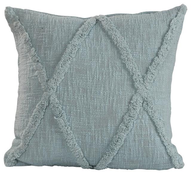 18 X18 Pastel Blue Throw Pillow Contemporary Decorative