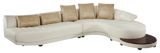 Simone Sectional With End Table, Ivory