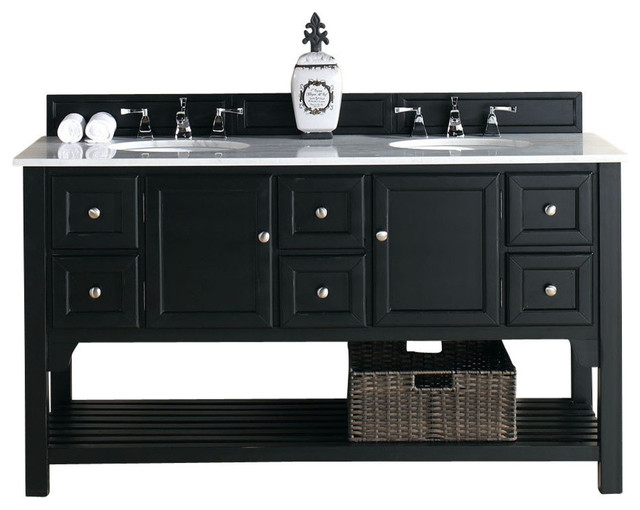 Bosco Brookfield 60 Antique Black Double Vanity Bathroom