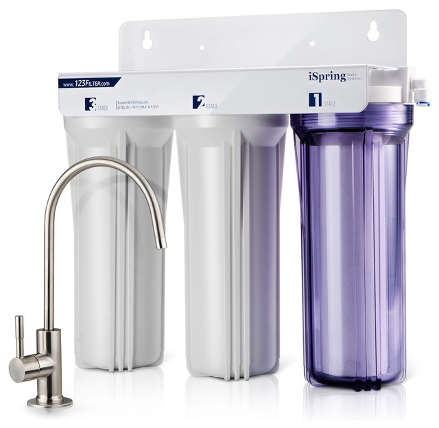 iSpring 3-Stage Under-Counter Water Filter System