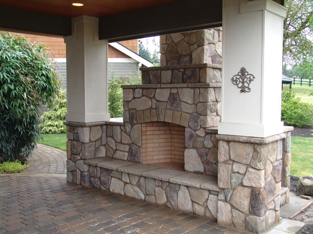 Outdoor Fireplace Traditional Portland By Brown Bros