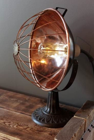 Rustic Industrial Copper heater Lamp rustic-table-lamps