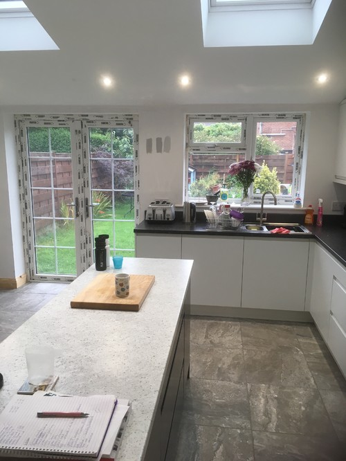 A Good Light Grey Kitchen Paint And Blinds.