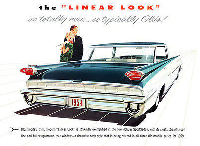 1959 Oldsmobile 98 Holiday Sport Sedan Promotional Advertising Poster