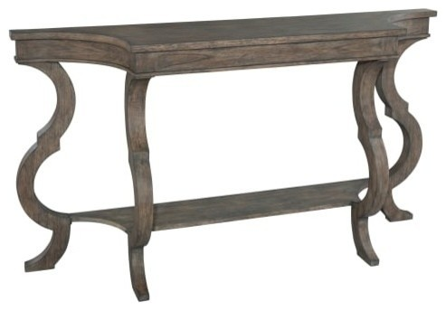 """Hekman 23508 Lincoln Park 64"""" Wood Sofa Table With Lower Shelf."""