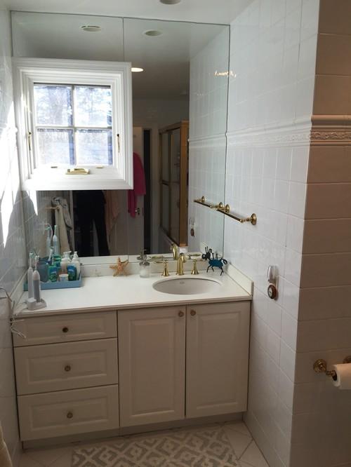 Offset bathroom vanity