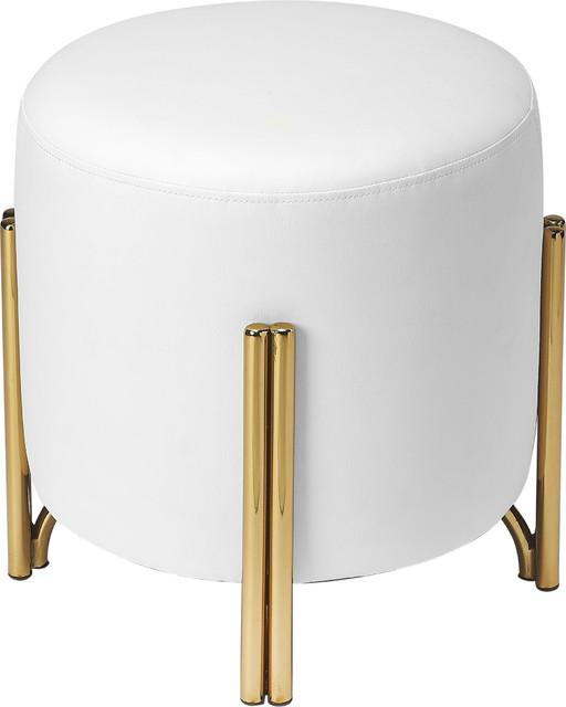 Phenomenal Sidney White Faux Leather Ottoman White Leather Ibusinesslaw Wood Chair Design Ideas Ibusinesslaworg