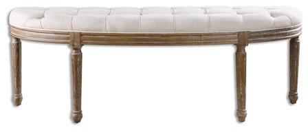 Rl-127911 Chair White Wood/fabric/foam Leggett White. -1