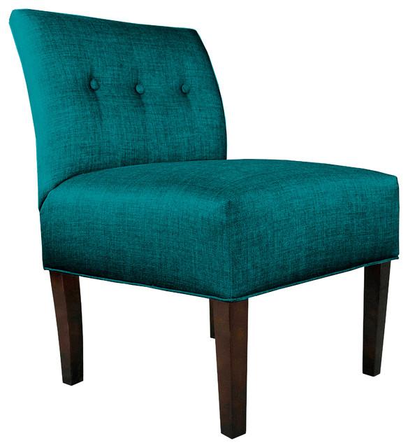 Samantha Fabric Accent Guest Chair, Dark Aqua by MJL Furniture Co.