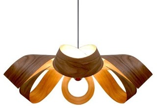 7Gods Lighting Shuly Pendant Lamp, Walnut