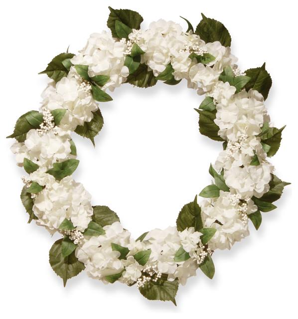 Cream Hydrangea Wreath, 32.
