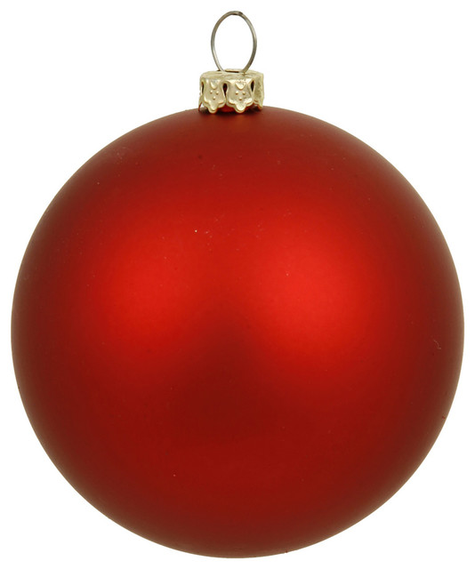 Vickerman 8 Matte Ball Ornament Contemporary Christmas Ornaments By Vickerman Company Houzz