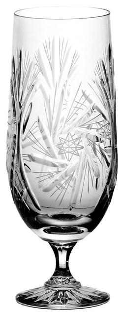 Monika Pinwheel Lead Crystal Beer Glasses, Large, Set of 6