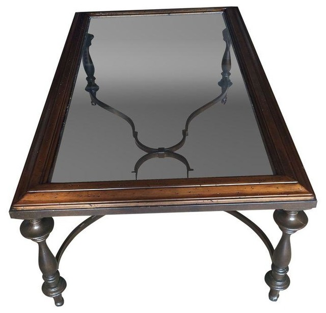 Thomasville Glass Top Coffee Table Traditional Coffee Tables