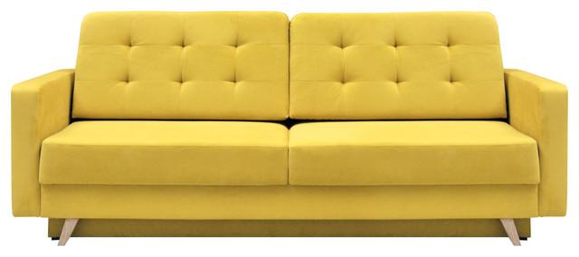 vegas futon sofa bed queen sleeper with storage yellow sofas