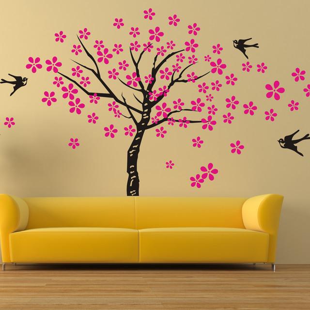 tree wall decals birds nature nursery wall decals children bedroom ...